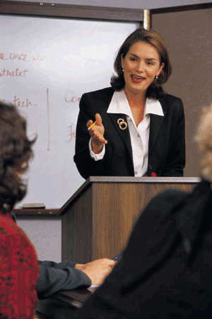 Lady Public Speaking