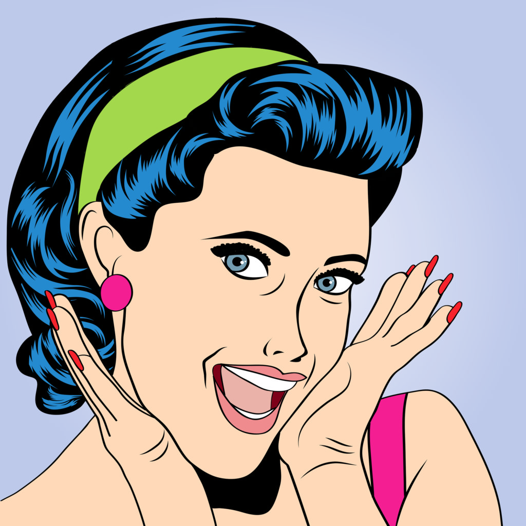popart woman in comics style vector illustration