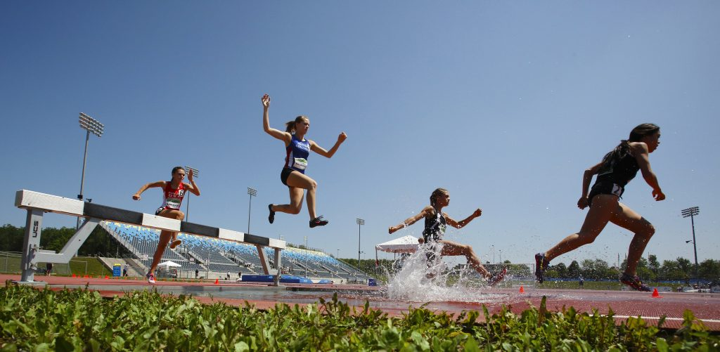 Steeplechase Track Women Water Jump