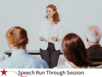 speech run through, speaking, giving a speech, coaching, training, susan heaton wright, superstar communicator, conferences, presentation skills