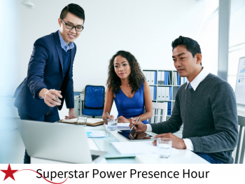 superstar power presence hour, superstar communicator, power presence, presence, communication skills, presentation, communicate, conferences, susan heaton wright, london, hertfordshire