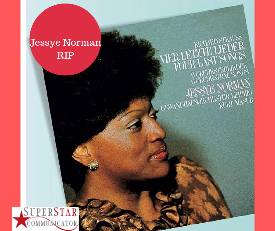 Jessye Norman, Superstar Communicator, serving your audience, Susan Heaton-Wright