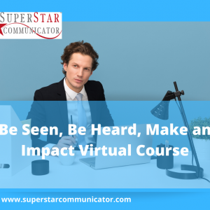 Impact and communication training virtually delivered by Superstar Communicator