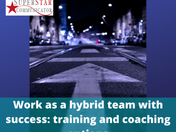 Training options for teams with Superstar Communicator