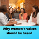 Article from Susan Heaton-Wright on why women's voices should be heard