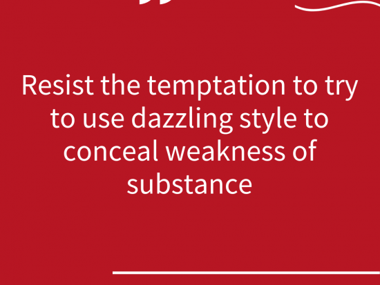 avoid style over substance superstar communicator